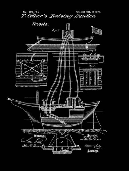 Mixed Media - Ship Recovery Patent by Dan Sproul
