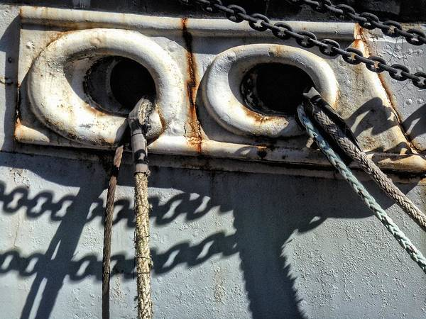 Photograph - Ship Ropes Chains by Joan Reese