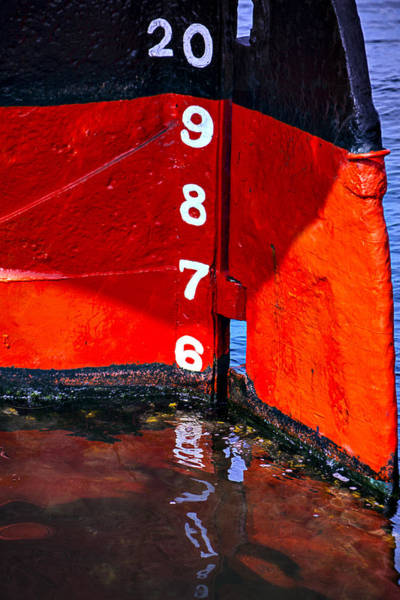 Wall Art - Photograph - Ship Waterline Numbers by Garry Gay