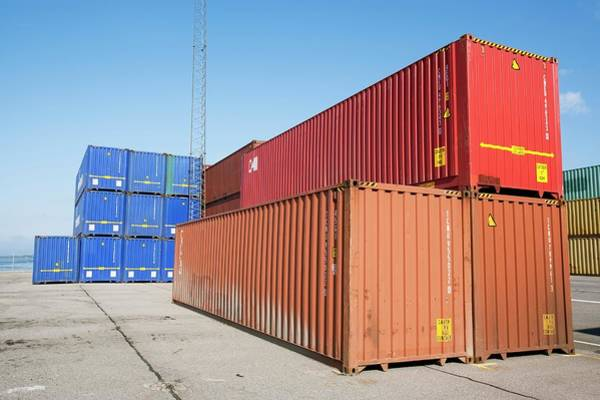 Cargo Containers Wall Art - Photograph - Shipping Containers by Adam Hart-davis