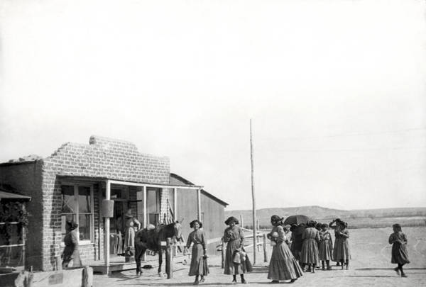 Navajo Indian Reservation Photograph - Shiprock Trading Post by Underwood Archives