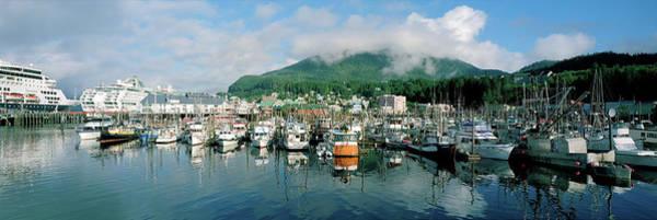 Ketchikan Photograph - Ships And Boats Moored At A Harbor by Panoramic Images