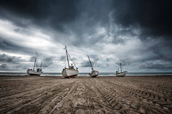 Low Tides Photograph - Ships by Fotomarion