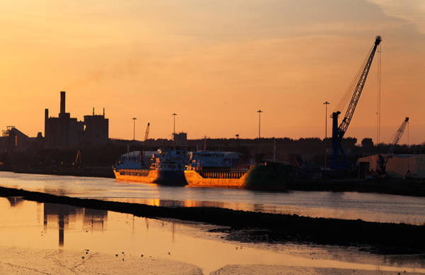 Freighter Wall Art - Photograph - Ships Moored At The New Docking by Panoramic Images
