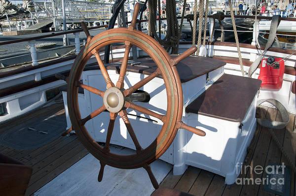 Photograph - Ships Wheel In San Diego by Brenda Kean