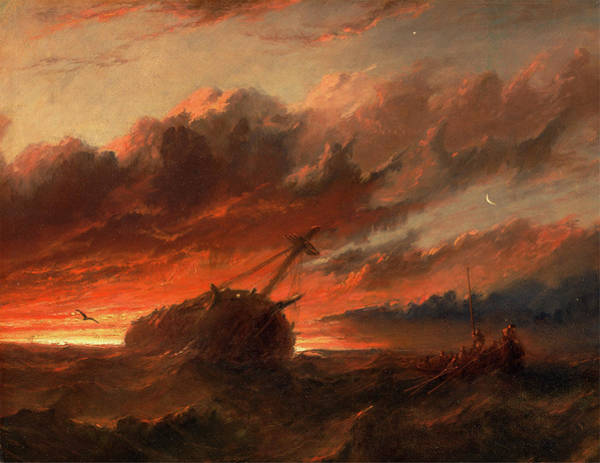 Wall Art - Painting - Shipwreck, Francis Danby, 1793-1861 by Litz Collection