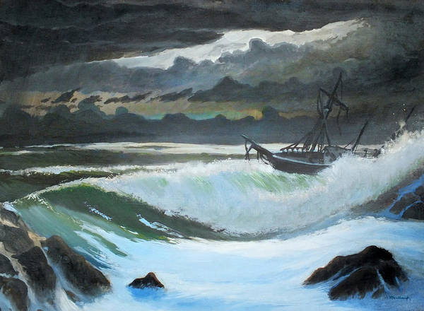 Painting - Shipwreck In The Eye Of The Storm by Duane McCullough
