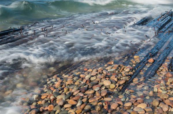 Shipwreck Waves Art Print