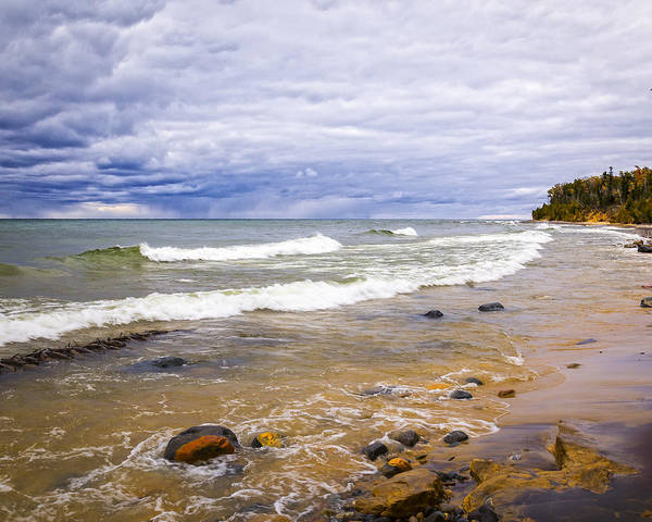 Photograph - Shipwrecked Lake Superior by Jack R Perry