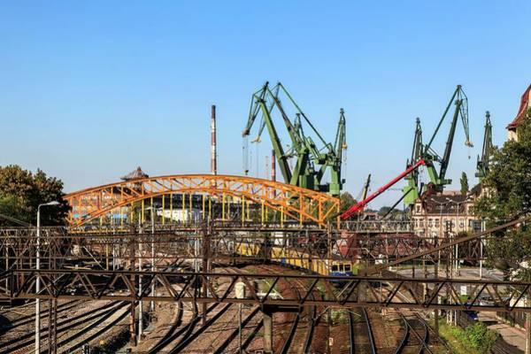 The Crane Photograph - Shipyard Gdansk by Photostock-israel