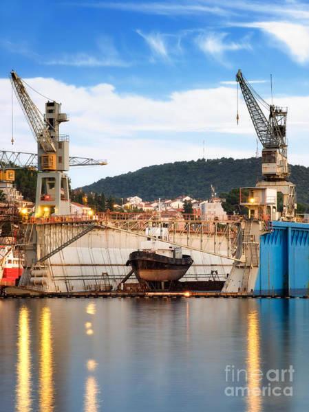 Losinj Photograph - Shipyard by Sinisa Botas
