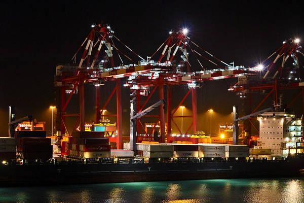 Photograph - Shipyards  Callao Port Lima Peru by Kurt Van Wagner