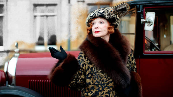 Shirley Maclaine @ Tv Serie Downton Abbey  Art Print