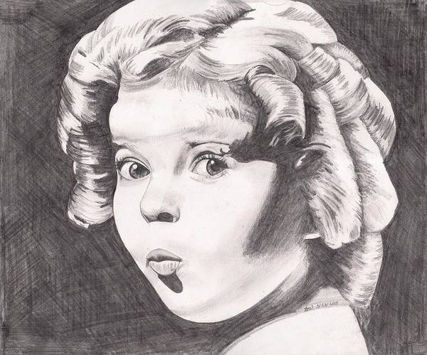 Child Actress Painting - Shirley Temple by Beverly Marshall