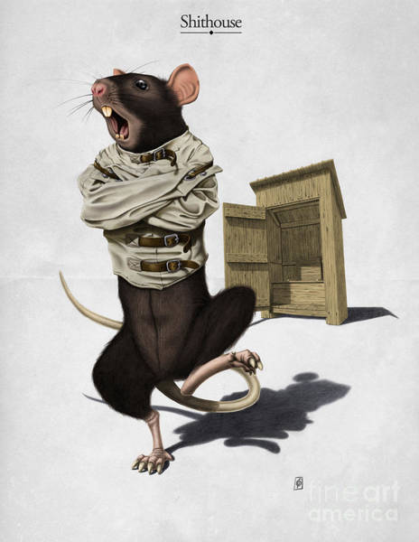 Rat Digital Art - Shithouse by Rob Snow
