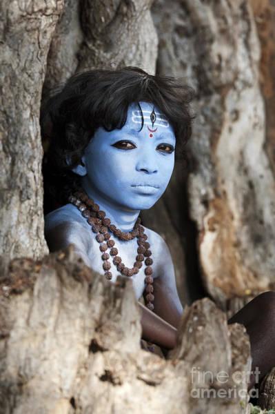 Hindu Photograph - Shiva Boy by Tim Gainey