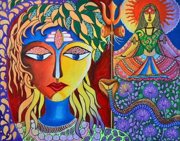 Wall Art - Painting - Shiva-sati by Deepti Mittal