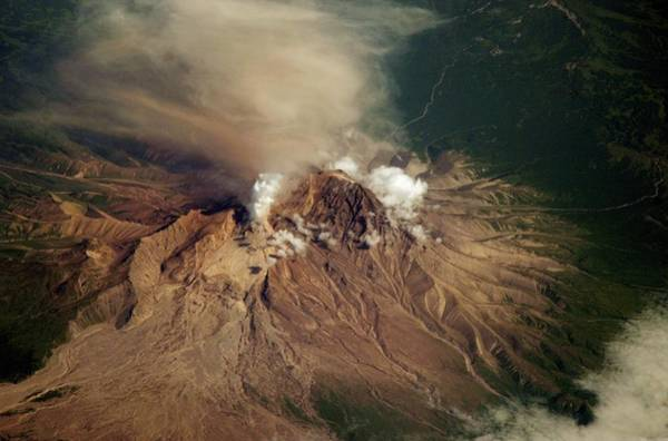 Active Volcano Photograph - Shiveluch Volcano by Nasa/jsc/science Photo Library