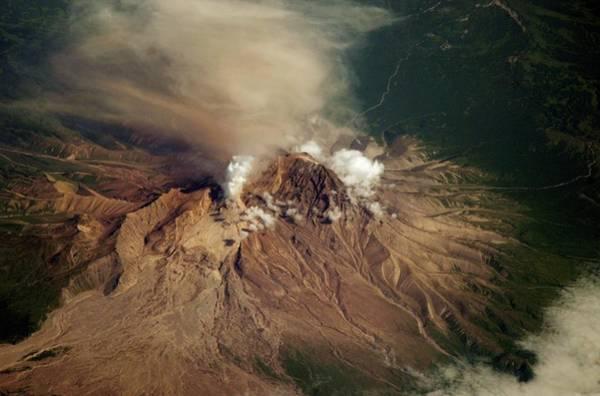 Kamchatka Photograph - Shiveluch Volcano by Nasa/jsc/science Photo Library
