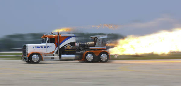 Semi Truck Photograph - Shockwave by Mike McGlothlen