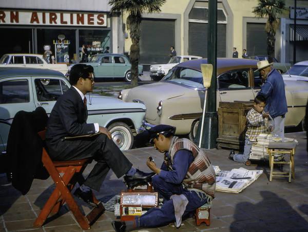 Photograph - Shoe Shine Mexico City 1960's by Michael Hope