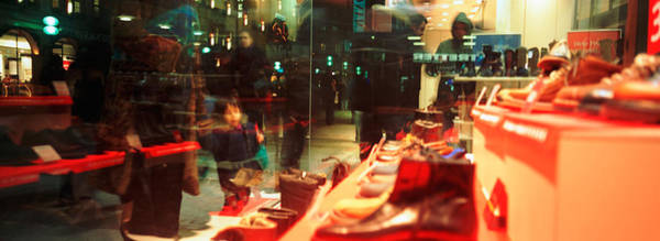 Window Shopping Photograph - Shoes Displayed In A Store Window by Panoramic Images