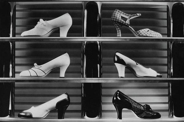 Season Photograph - Shoes For Sale by Anton Bruehl