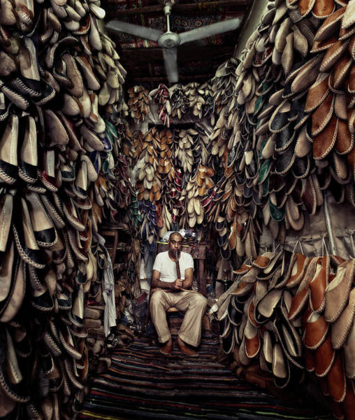 Shop Photograph - Shoes Maker by Mahmoud Fayed