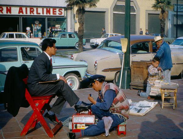 Photograph - Shoeshine Man by Michael Hope