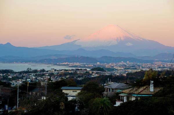 Kamakura Wall Art - Photograph - Shonan Winter Morning Mt.fuji by Taro Hama @ E-kamakura