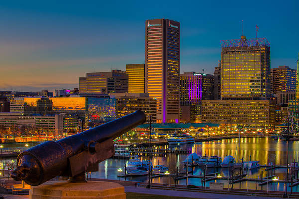 Photograph - Shooting Purple In Baltimore by Dennis Dame