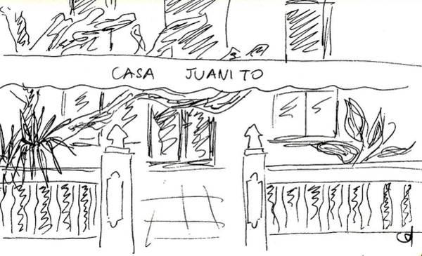 Drawing - Shop Casa Juanito In Torremolinos by Chani Demuijlder