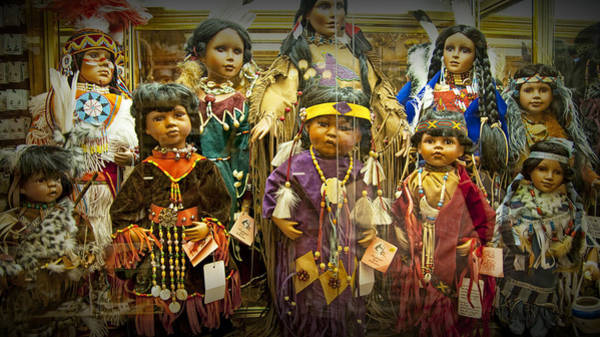 Photograph - Shop Display Of American Indian Dolls by Randall Nyhof