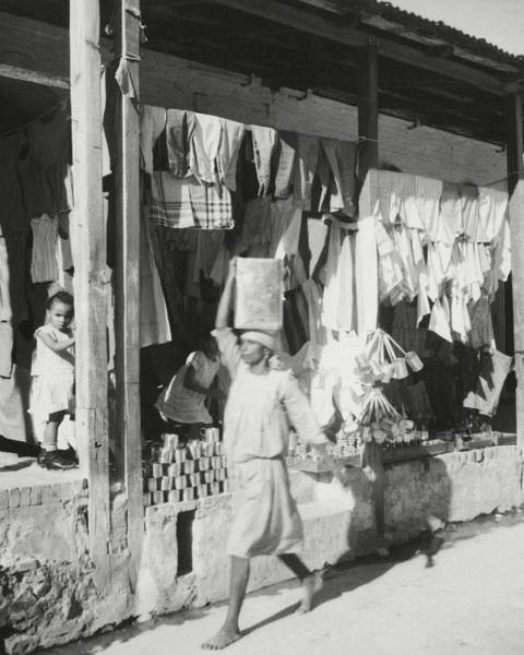 4 Photograph - Shop Fronts In Haiti by Cecil Beaton