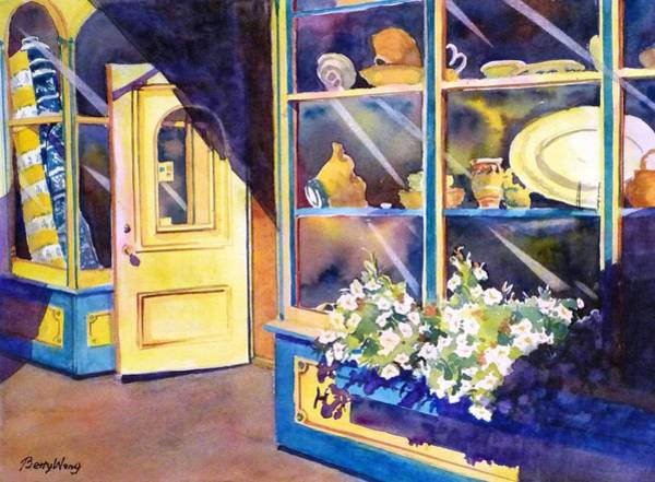 Painting - Shop Window by Betty M M Wong