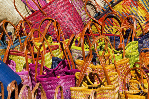 Lourmarin Photograph - Shopping Baskets by Bob Phillips