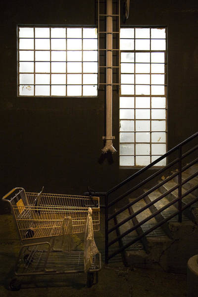 Shopping Photograph - Shopping Cart Stairs At Window by Peter Tellone