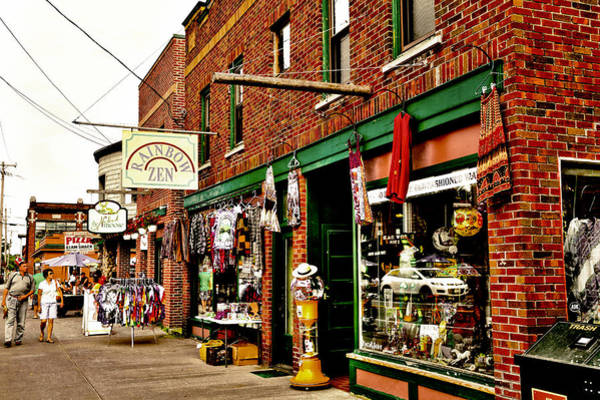 Photograph - Shopping Downtown Old Forge - New York by David Patterson