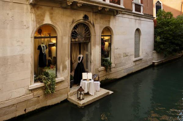 Photograph - Shopping For A Black Dress In Venice Italy by Georgia Mizuleva