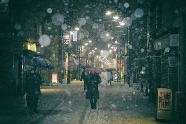 Snow Wall Art - Photograph - Shopping Street by 7 Flavor C/p