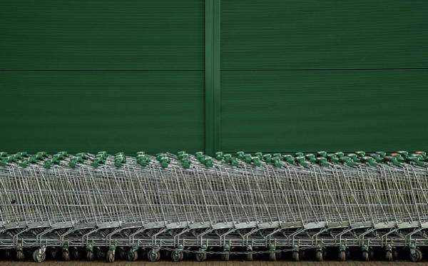 Street Photograph - Shopping Trolleys by Inge Schuster