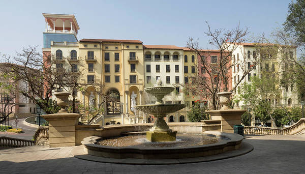 Johannesburg Wall Art - Photograph - Shops Designed To Look Like Italian by Panoramic Images