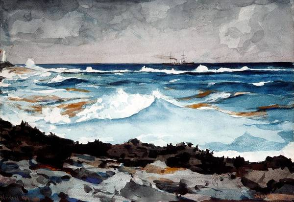 Painting - Shore And Surf  by Celestial Images