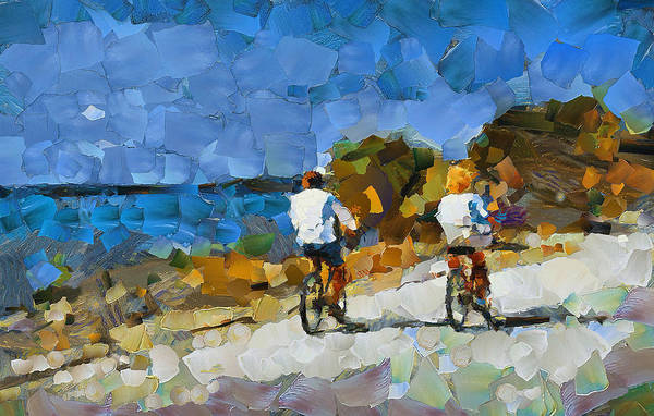 Wall Art - Digital Art - Shore Biking by Yury Malkov