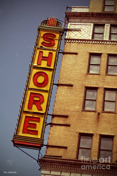 Nostalgia Digital Art - Shore Building Sign - Coney Island by Jim Zahniser