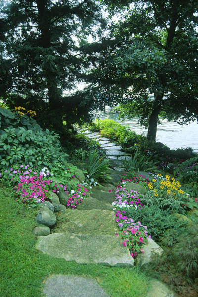 Photograph - Shore Path - Lake Geneva Wisconsin by Bruce Thompson