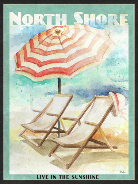 Coastal Digital Art - Shore Poster II by Patricia Pinto
