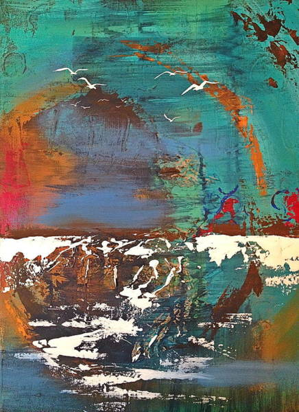 Seagulls Mixed Media - Shore Reflection by Laura Parrish