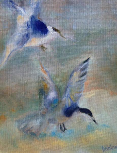 Wall Art - Painting - Shorebirds by Susan Hanlon