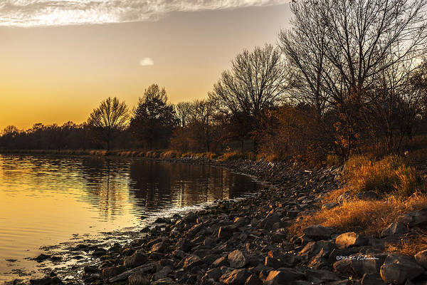 Photograph - Shoreline At Sunset by Edward Peterson